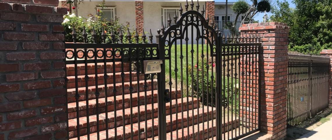 Wrought Iron Fencing Gates Telephone Entry System Security